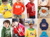 2014秋款韩版儿童卫衣批发 特价男女童套头卫衣 外贸原单尾货清
