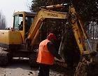 上海静安区延安中路挖掘机出租管道挖掘路面破碎