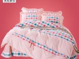 【新品快订】2014新南通家纺外贸亲芙绒韩版春夏四件套 床上用品
