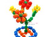 乐高式太阳花积木 塑料拼插拼装积木早教幼儿桌面益智塑料玩具