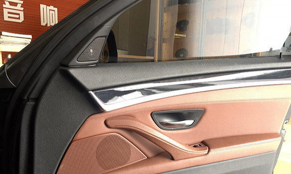 宝马525音响改装低音升级 深圳享声汽车音响改装高清图片