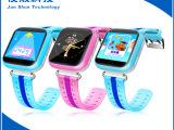 触屏儿童电话智能手表,精准定位,双色表带