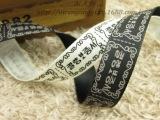 DIY发饰辅料 14mm印唛(织唛)布标丝带 韩文手工制造