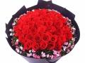西安鲜花速递 情人节生日鲜花 开业花篮 市区免费送