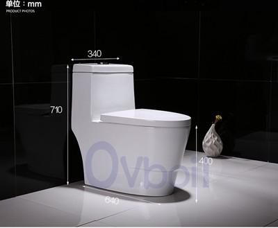 马桶陶瓷洁具卫浴超漩虹吸连体座便器节能坐厕大便器承接工程