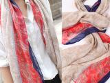 2014秋冬民族复古波西米亚超长大围巾棉麻大披肩异域风情
