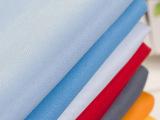 【企业集采】厂家直销精仿呢素色工作服面料 柔美精纺呢批发