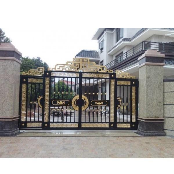 天津市安装别墅铝艺护栏 东丽区铝艺大门厂家