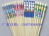 可爱卡通图案儿童竹筷 纯天然原木筷子 环