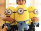 眼卑鄙的我2神偷奶爸小黄人公仔玩具毛绒黄豆豆3D娃娃玩具