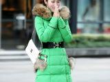 2014冬季新款女式中长款修身羽绒服 女羽绒服一件代发免费代理