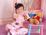 珊瑚绒春秋冬睡衣家居服卡通轻松熊 女童儿童套装 亲子装母女装