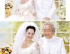 透明元素中老年婚纱照