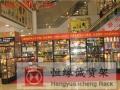 Q清远玻璃样品展柜精品店产品陈列货架商品展示钛合金柜批发定做