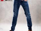 2014春装男式牛仔裤男浅蓝色高弹力紧身小脚牛仔长裤子 AB008
