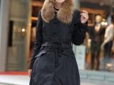 供应长款羽绒服 加厚保暖大毛领女式羽绒服