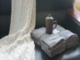 新品外贸欧式全腈绞花毛线针织毯 沙发装饰毛线毯 情侣盖毯批发