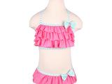 金格尔正品温泉泳衣儿童裙式分体比基尼泳衣女童可爱游泳衣女G402