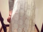 2015年韩版春款女装 松紧腰立体镂空高档蕾丝半身裙女士半身长裙