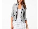 欧美秋冬新款 2014女装 修身显瘦 翻领小西装 高品质外贸原单