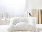 尊梵 微笑水立方 护颈颈椎枕 螺旋按摩枕 珍珠棉枕 保健枕可代发