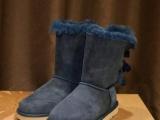 2015澳洲雪地靴灯芯绒系列蝴蝶结中帮雪