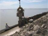 卡特振动液压打拔机拉森钢板桩打拔施工打围堰支护施工/拔桩清障