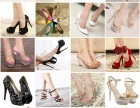 厂家直销 2015夏季新款 韩版亮片布加A级捷克钻女式高跟鞋
