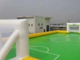 郑州充气沙滩玩具|钢架蹦极跳床租赁