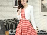 批发2014年秋季新款甜美时尚裙套装 女式修身针织裙套装厂家直销