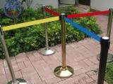伸缩隔离栏 栏杆座价格 挂绳一米线