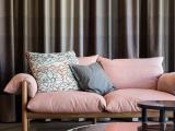 日式小户型布艺沙发 创意简约现代棉麻别墅可拆洗白蜡木羽绒乳胶