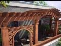 辽宁省锦州葡萄架庭院阳台花架廊架 防腐木碳化木户外