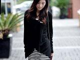 【抄底价】两件套秋冬装秋外套 韩版V领长袖针织衫针织两件套裙