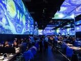 5D光影餐厅酒店饭店宴会厅墙体设计装饰装修5D投影招全国代理