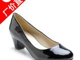 女鞋厂家直销 2014新款春秋季 时尚职业女单鞋粗跟皮鞋批发 代