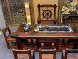 老船木茶桌椅组合功夫茶台实木茶几茶艺桌简约古典船木茶几
