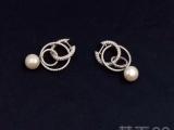 apm monaco Croisiere 纯银镶晶钻珍珠耳环