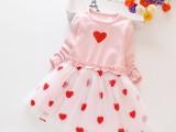 女童连衣裙潮款女宝小可爱长袖网纱裙子小女孩网红洋气公主裙