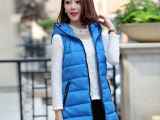 2014秋冬最新绝对爆款中长款马甲酷炫时尚韩版女式棉马甲批发