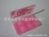 温州厂家直环保料塑料促销广告六格小药盒 订做颜色简易塑料盒子