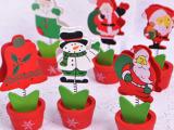 圣诞系列花盆名片夹创意照片相片夹子便条便