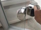 玻璃狗玻璃门指纹锁双门免开孔密码锁电子锁推拉平移门智能锁