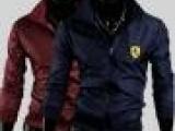 已下架 男士法拉利刺绣休闲外套防雨防风立领夹克1401JK12