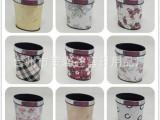 欧式高档垃圾桶 塑料皮革卫生桶 椭圆垃圾桶 花纹混装