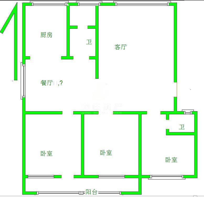 省公安厅大气三室 南北通透 交通便利 厅长楼340万 诚意售
