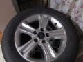 09款福克斯轮毂+轮胎原车改装拆下,8成新
