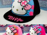 2014春夏新款韩版潮儿童拼色KITTY 猫平沿棒球帽子批发外贸