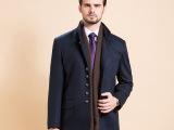 韩版男式呢大衣 厂家直销冬季新款休闲时尚立领单排扣双口袋风衣