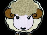 花边毛巾绣亮片刺绣辅料服装装饰配件布贴贴花小绵羊  工厂直销
